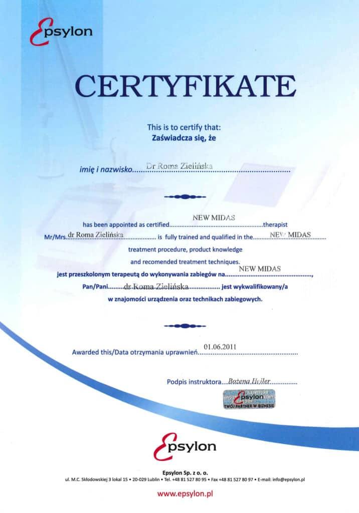 certyfikat magnopere