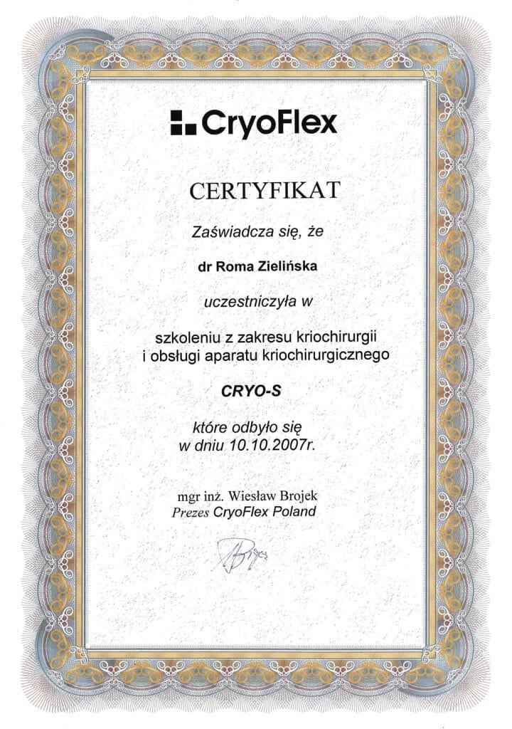 certyfikat uczestnictwa wszkoleniu