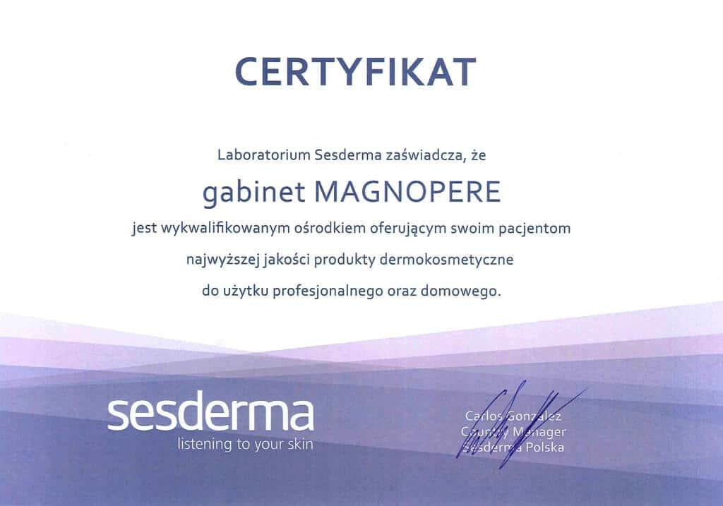 certyfikat jakości Magnopere