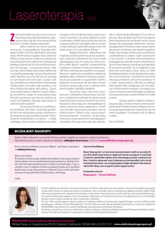 Laseroterapia klinika Magnopere wKrakowie